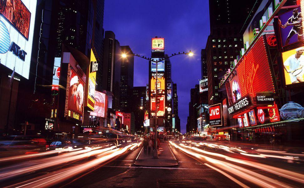 Nightlife Hd Wallpaper Times Square New York Night City City Wallpaper