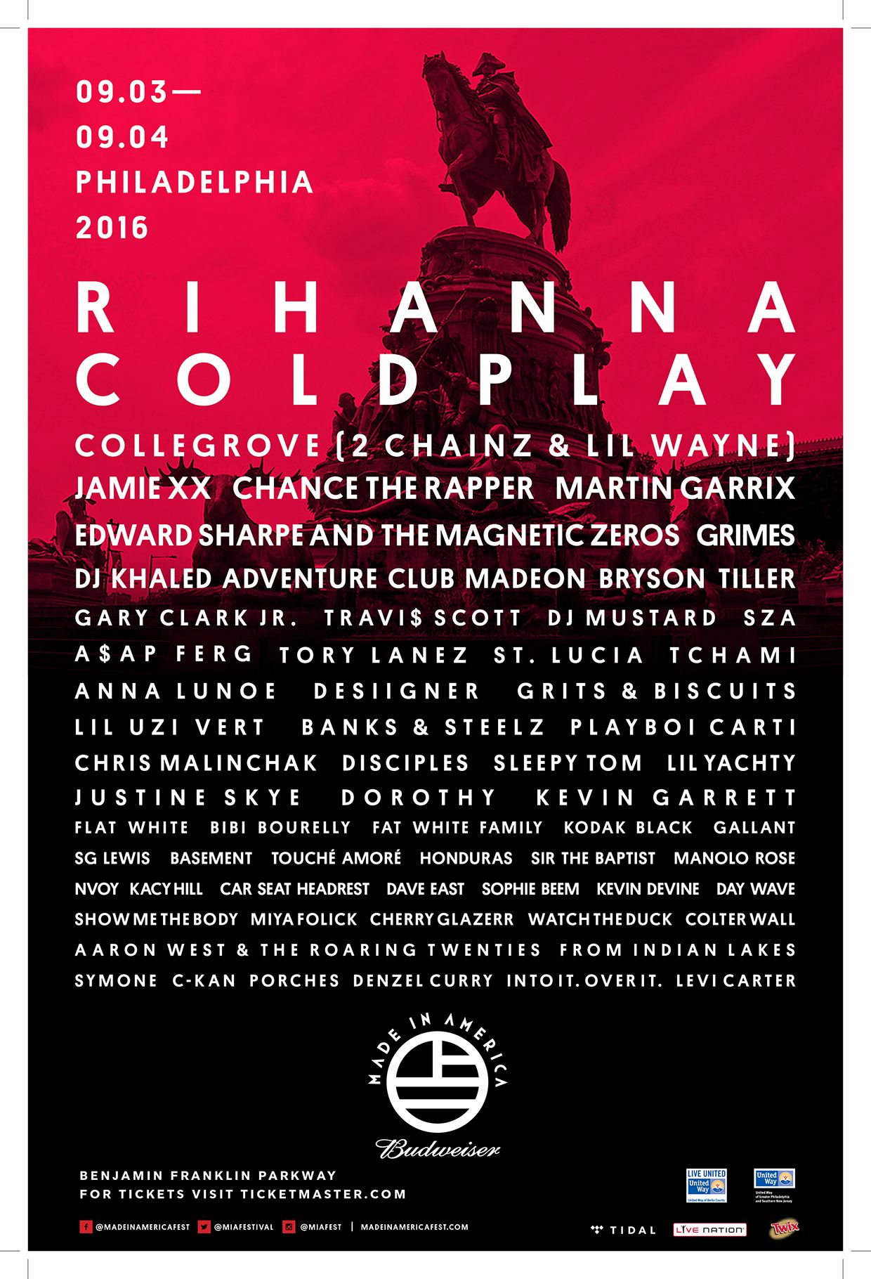 Budweiser Made In America Festival Will Return To Philadelphia For Its Fifth Season This Labor Day Weekend With A Star Studded Lineup And Slew Of