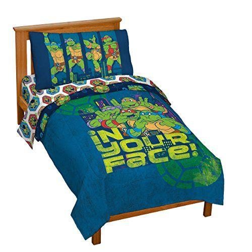 Nickelodeon Teenage Mutant Ninja Turtles Turtley Awesome Toddler Bed Set Toddler Bed Set Bedding Sets Baby Girl Bedding