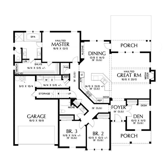 Image For La Quinta Adds Large Entertaining Space To The Galen Main Floor Plan Craftsman Style House Plans House Plans House Blueprints