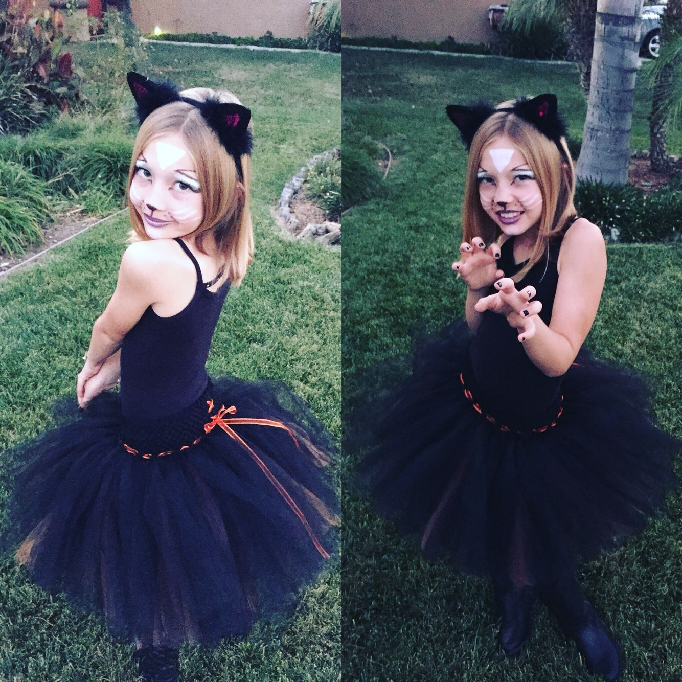 Black Cat Costume for little girls. Cat halloween