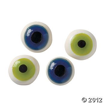 gummy eyeballs what every party needs Halloween birthday party