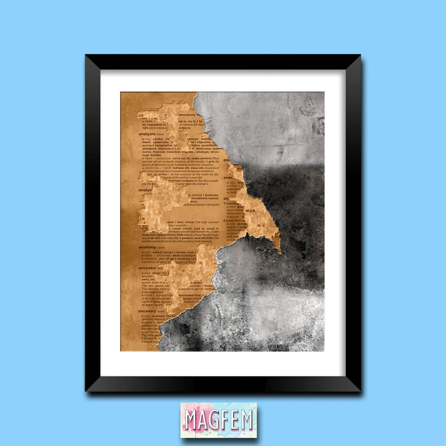 Rustic decor rustic wall decor abstract art abstract painting