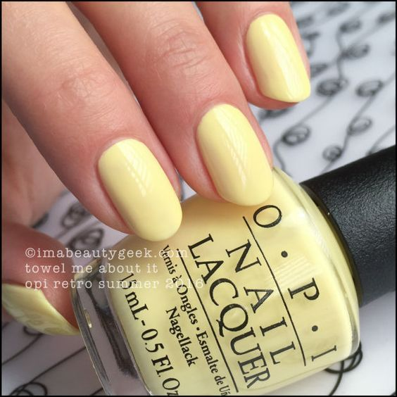 60 Different Nails Color For Summer 2018 Yellow Nails Nail