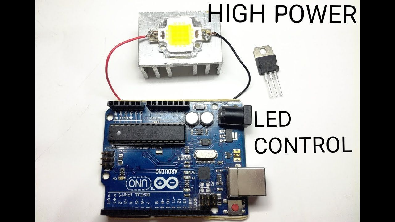 How to use High Power Led with Arduino/low voltage signal  - YouTube