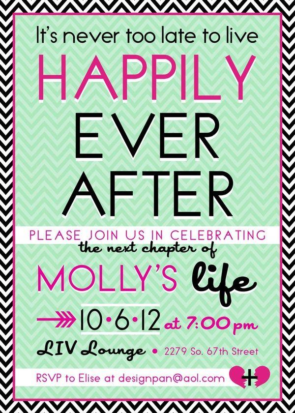 Divorce party invitation @Mandi Smith T Interiors Smith T ...