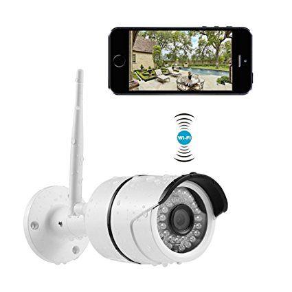 Caméra IP Extérieur, INKERSCOOP Caméra de Surveillance 720PHD Caméra - eclairage exterieur detecteur automatique