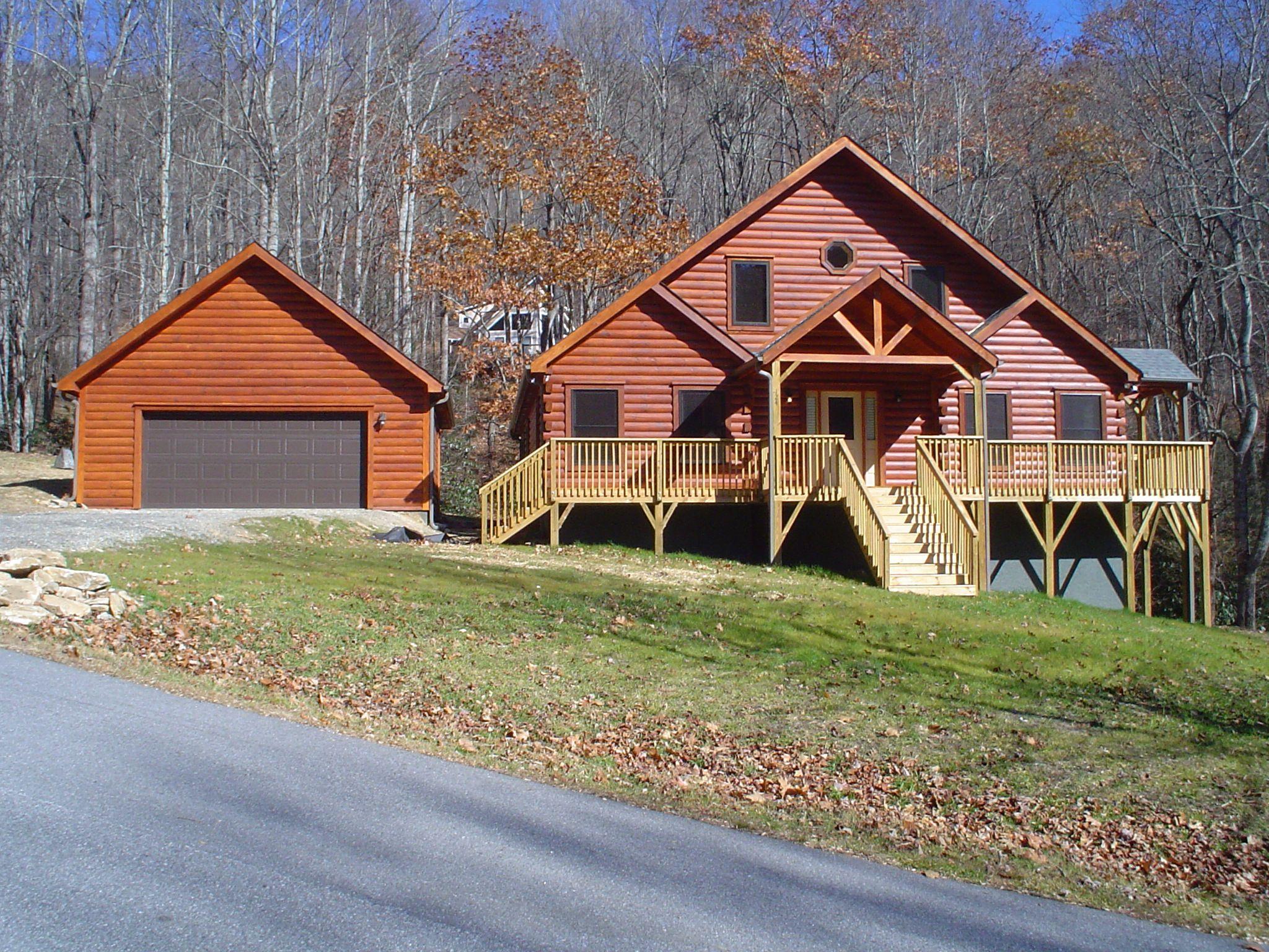 Banner elk log cabin floor plan built by blue ridge log for Banner elk home builders