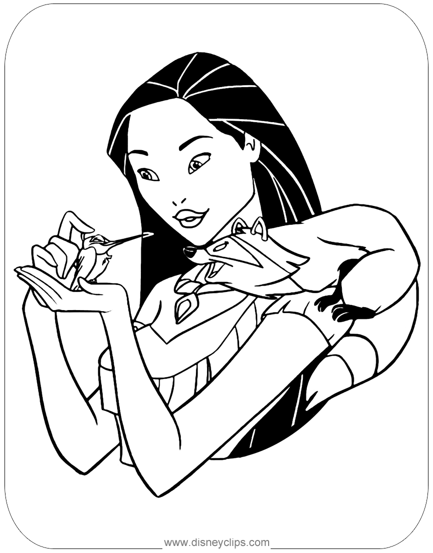 #pocahontas coloring page | Disney princess coloring pages ...