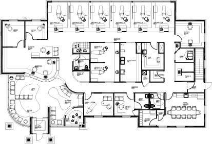 office floor plan design. kokodynski orthodontics benefited from excellent dental office design ideas that resulted in a floor plan with an efficient workflow f