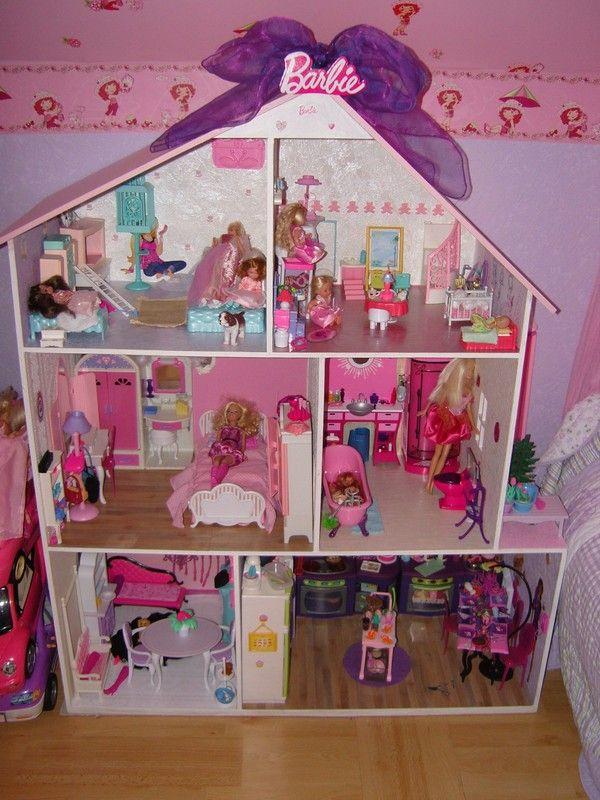 Maison Barbie pour ma fille | Maison barbie, Maison de poupée barbie