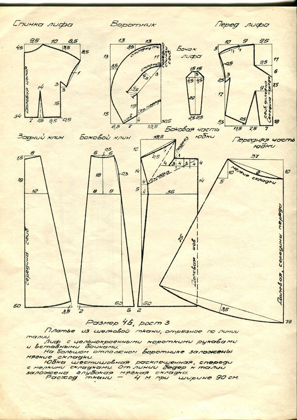 1950s dress pattern draft 2 | Patronaje y confeccion | Pinterest ...