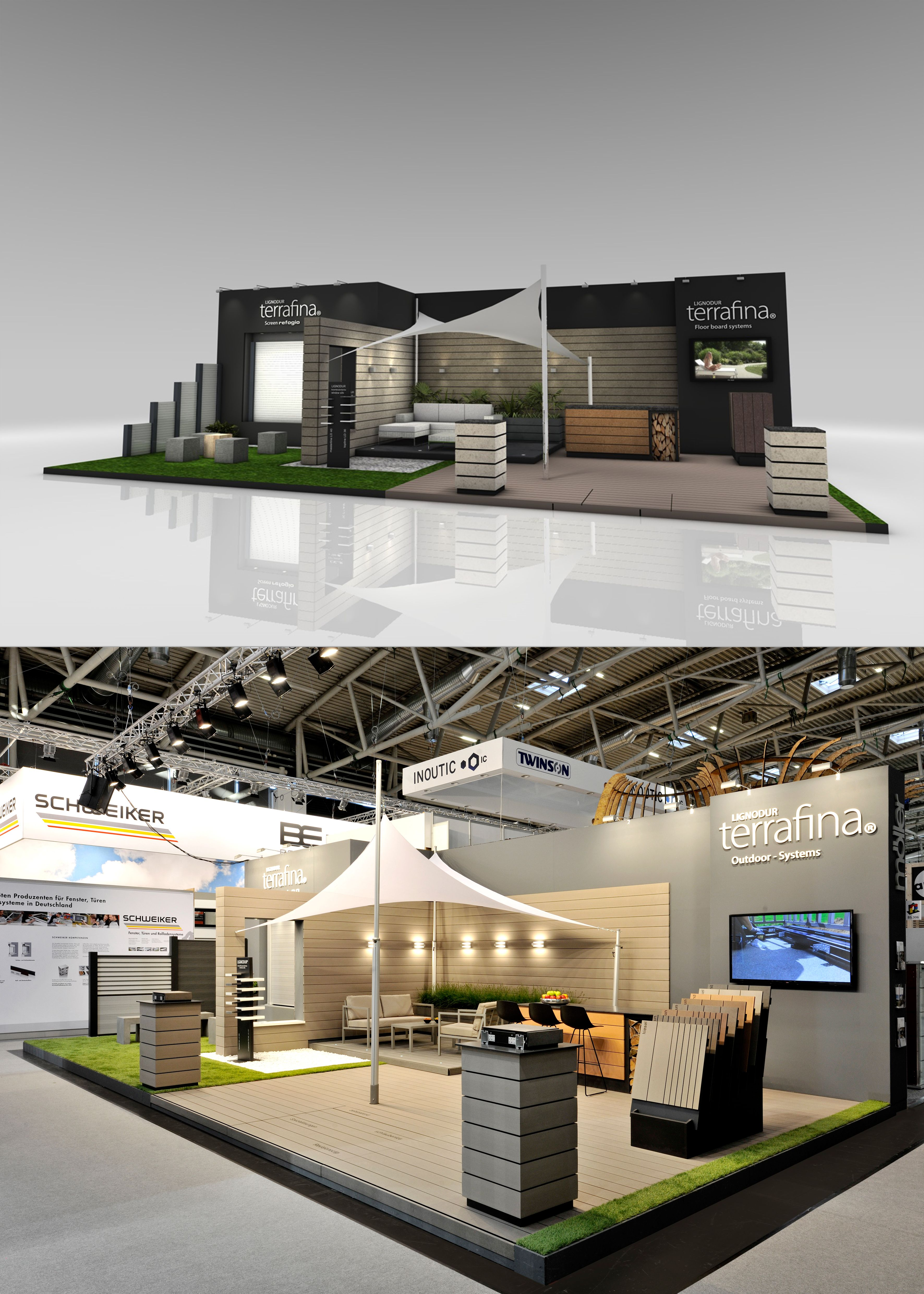 Exhibition Stand Builders Germany : Exhibition design and booth from the inside stand building