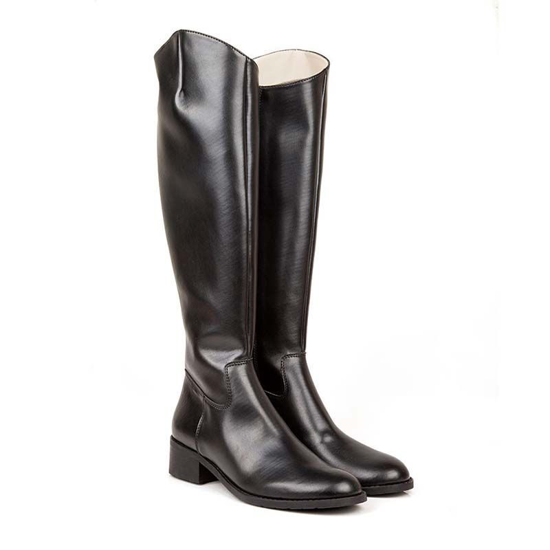 Beyond Skin Jane Black Vegan Knee High Riding Boot non leather ...