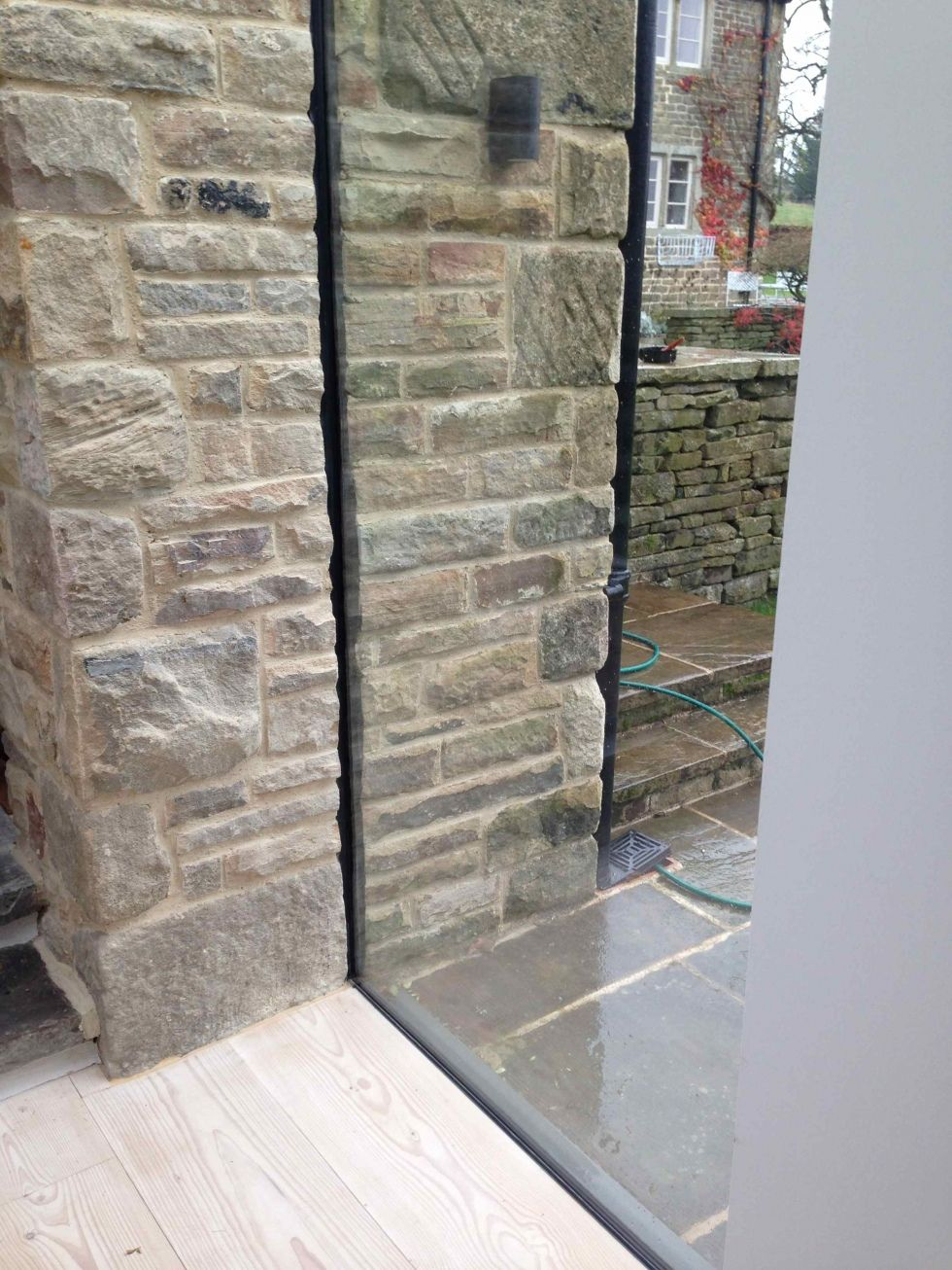 Double glazed frameless glass window link stone homes pinterest
