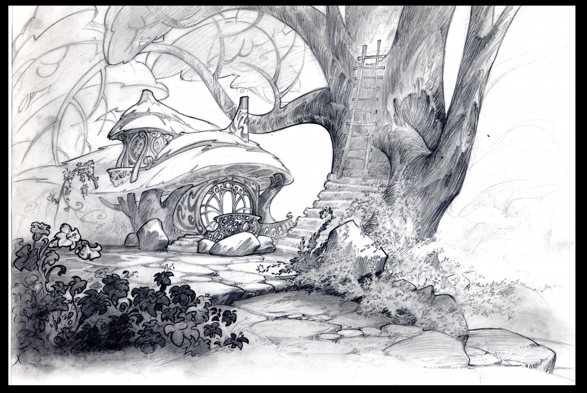 Cent Alantar - The Art of Disney  Environnement concept art, Les