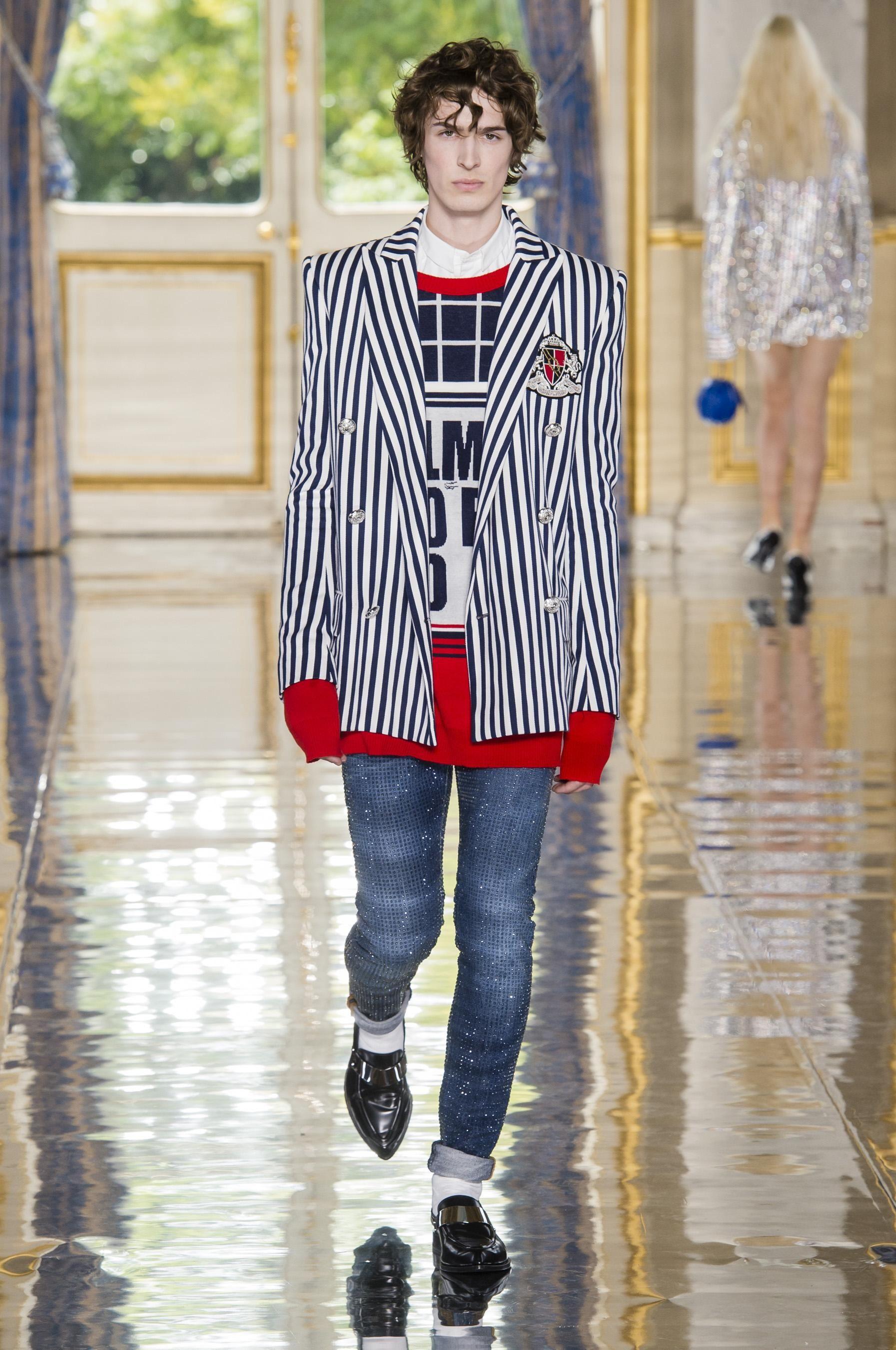 82b41a444c91 Défilé Balmain printemps-été 2019 Homme - Madame Figaro