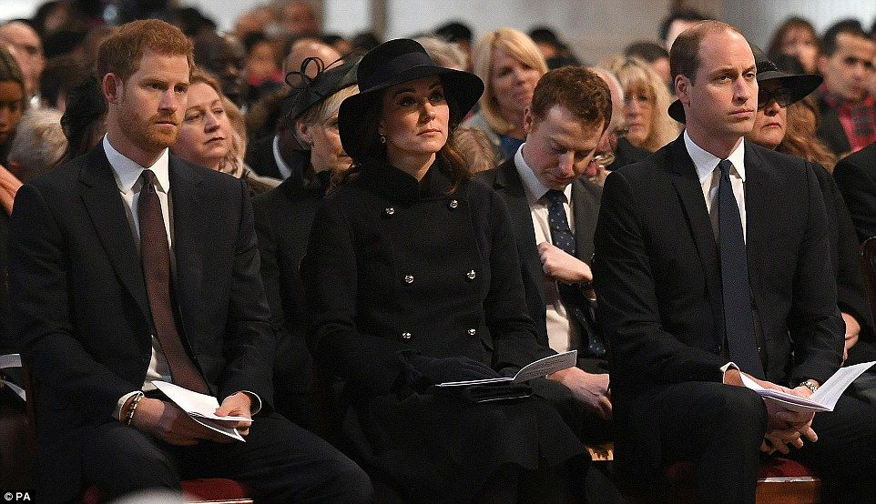 Emotional royals remember the victims of Grenfell Tower