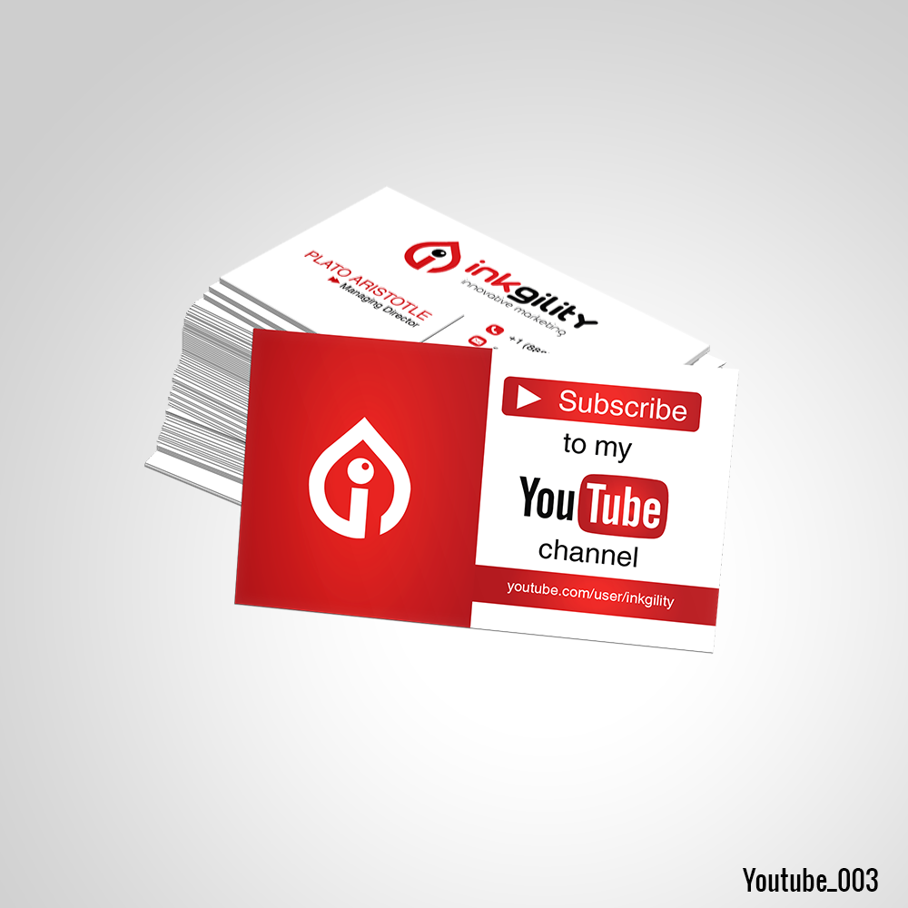 Youtube business card youtube standard business card pinterest business cards youtube business card magicingreecefo Image collections