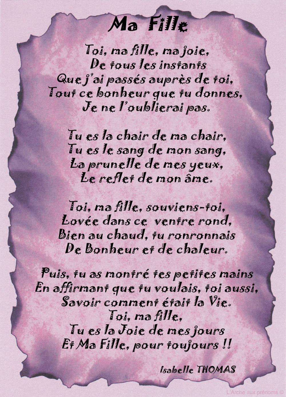 Poeme A Ma Fille Que J Aime : poeme, fille, Poeme, D'anniversaire, Fille, Poème, Famille, Texticadeaux, Childrens, Prayer,, Messages,, Positive, Affirmations