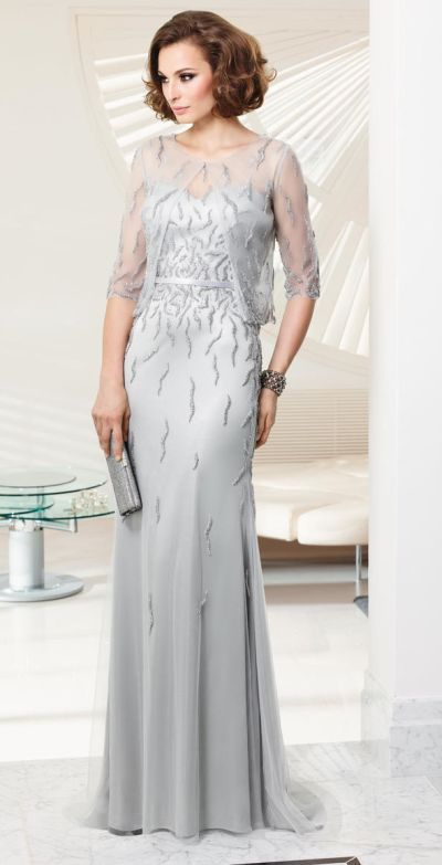 74576bfd2f5 VM Collection 70925 Mother of the Bride Dress with Sheer Bolero - French  Novelty  500