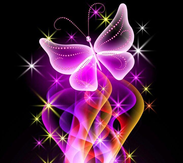 Butterfly Wallpaper, Neon Wallpaper