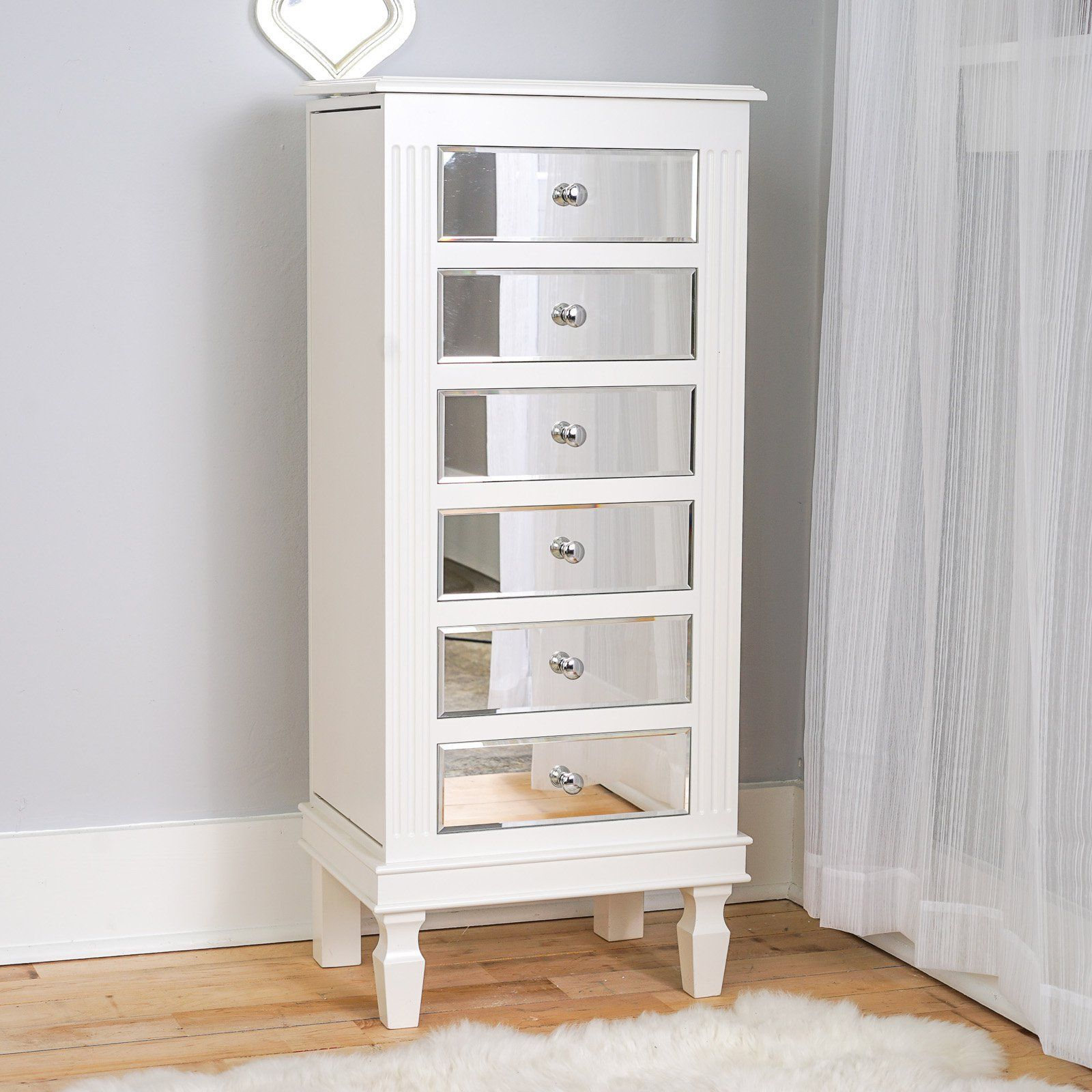 Hives And Honey Ava Jewelry Armoire   White | From Hayneedle.com