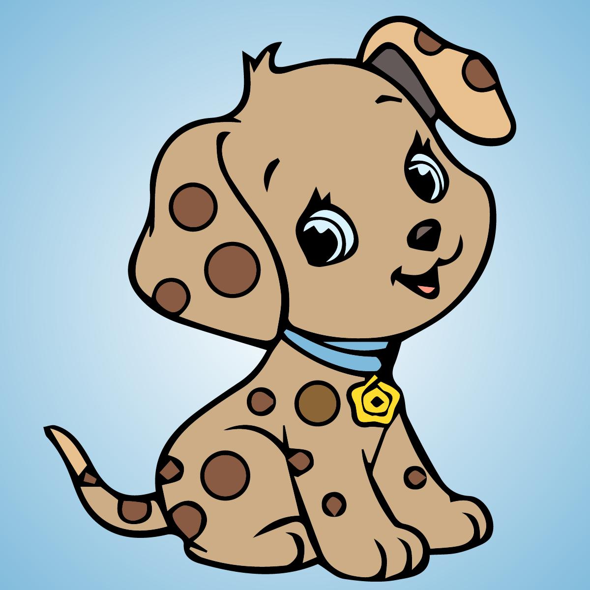 Cartoon puppy coloring page #cartoon #puppy #coloringpage | Cartoon ...