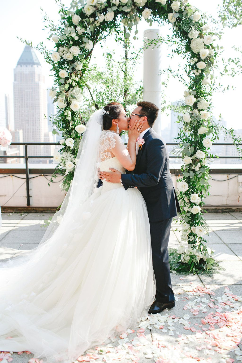 A Floral Filled Nyc Rooftop Wedding Planned And Designed By Katie Werkin For Chancey Charm New Wedding Planning Jobs New York Wedding Wedding Planner New York