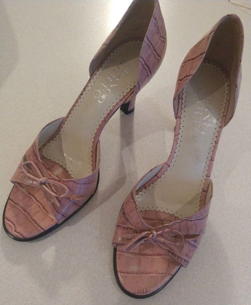 35fe7f0cd04 Women s Franko Sarto Faux Pink Alligator Pump Heels Size 8 Elegant Designer   fashion  clothing