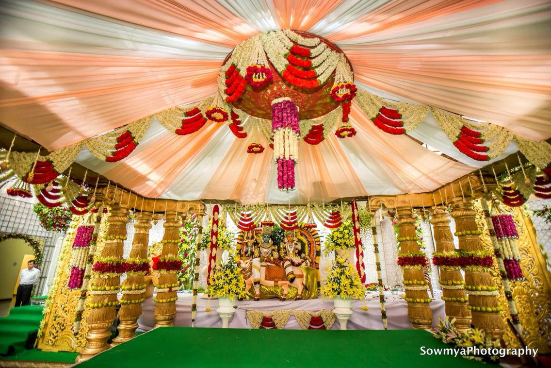 Wedding mandap decoration images  Pin by Sahithya Reddy on Wedding Decor  Pinterest  Wedding mandap