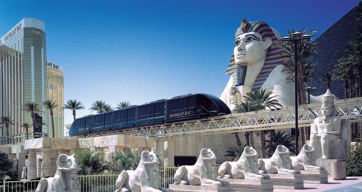 Maglev Sky Train At Mandalaybay In Las Vegas