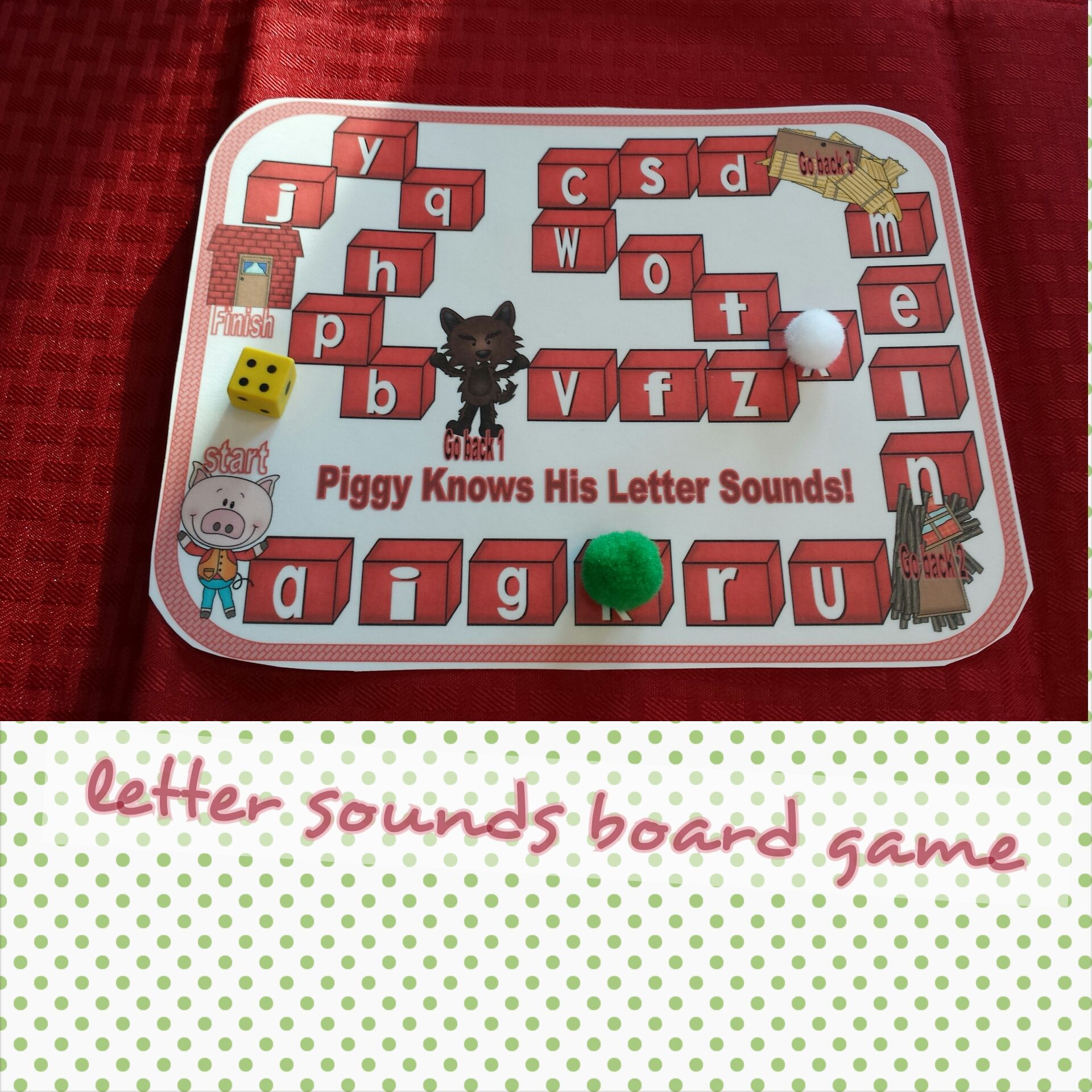 Three Little Pig Board Game Letter Sounds Poem To Jingle
