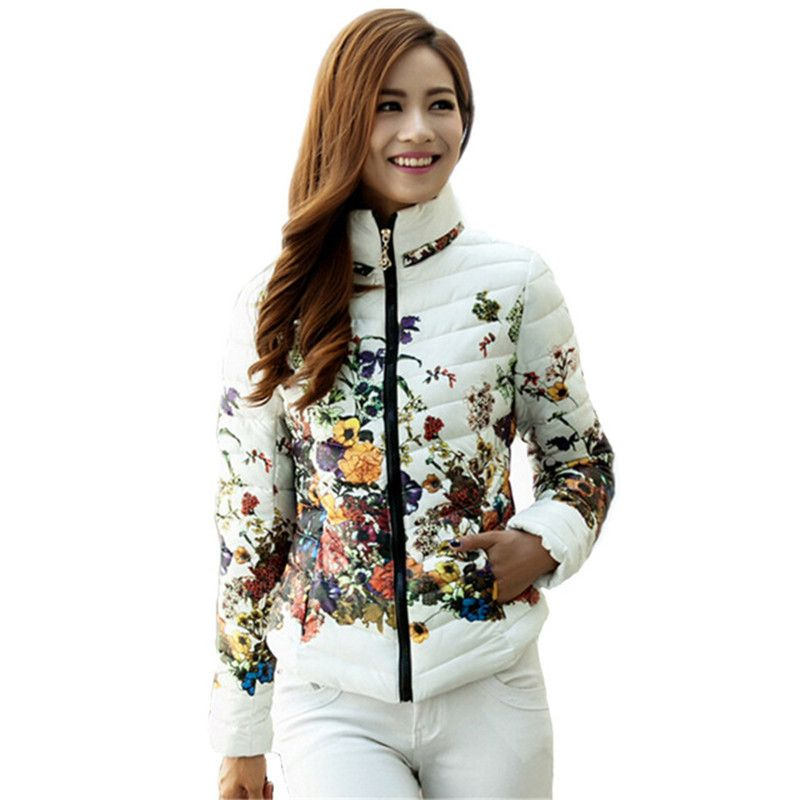 3b59f8bf34e ... Coats Plus Size Zippers Outerwear Clothing. 58.60  Buy here - 2016 New  Arrival winter Women fashion duck down jacket Floral printing