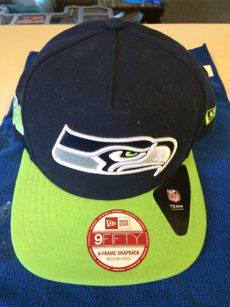 Seattle Seahawks New Era 9Fifty A-frame SnapBack Med-Large ...