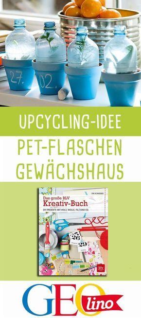 Gewächshaus aus PET Flaschen #gartenupcycling