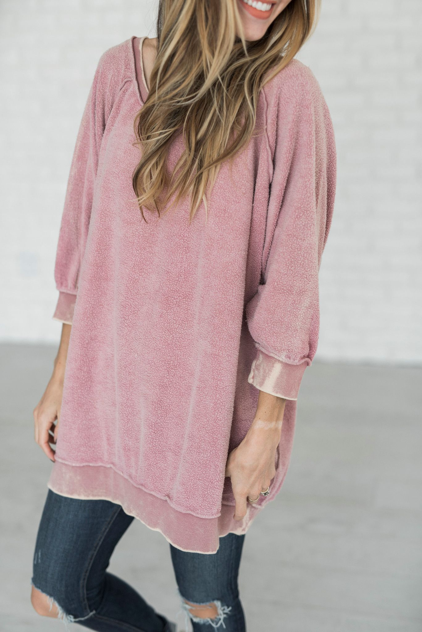 a427b2266d Free People - My Pullover - Dusty Rose