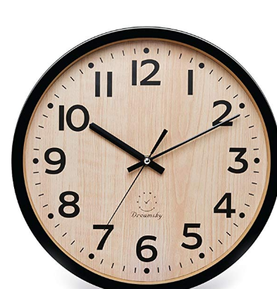Dreamsky 12 Large Wall Clock Battery Operated Non Ticking Quartz Analogy Wall Clocks For Kitchen Wall Clock Clock Kitchen Wall Clocks
