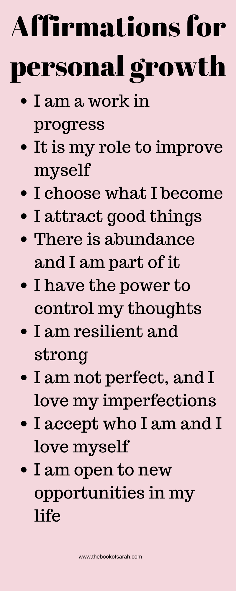 Daily affirmations to help you through tough times - The Book of Sarah
