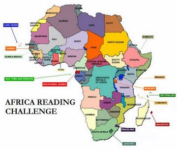 Map Of Africa 2014 2014 Africa Reading Challenge | Reading challenge, African