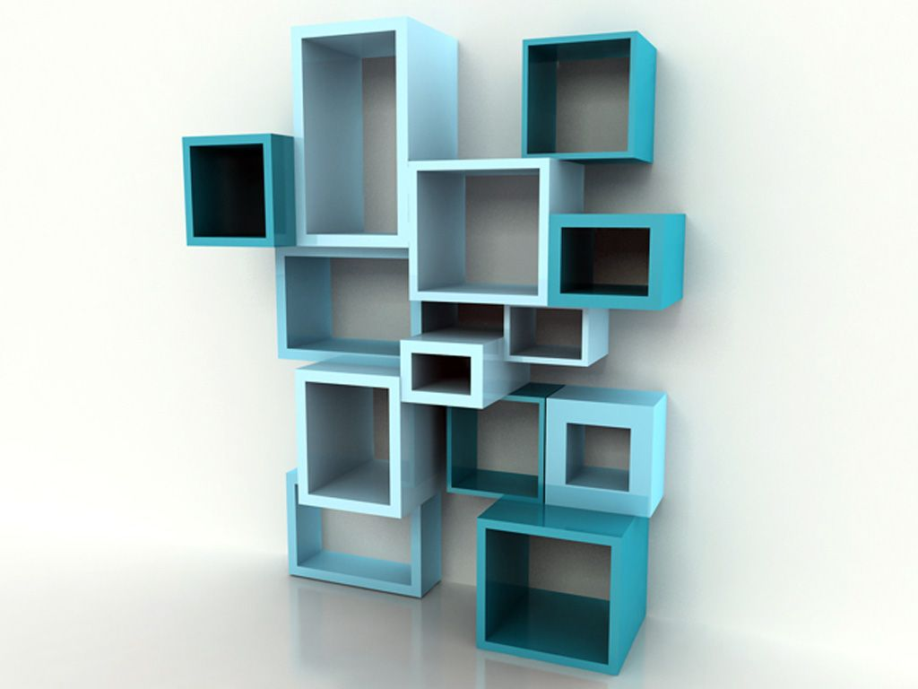wall bookcase design in - photo #19
