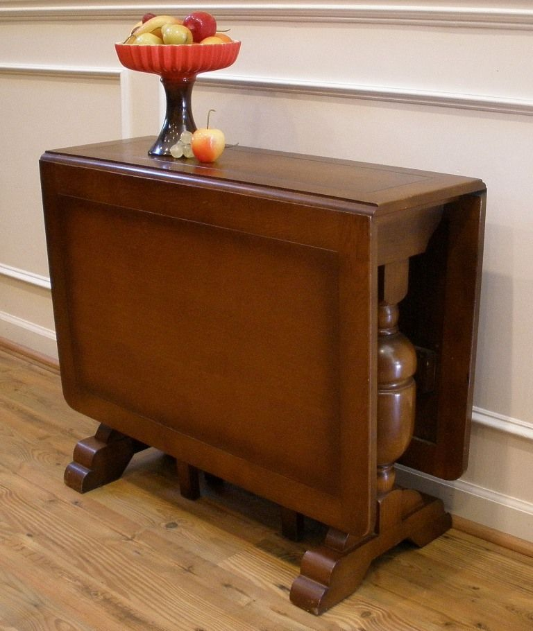 Art Deco Drop Leaf Table Antique Furniture Pinterest