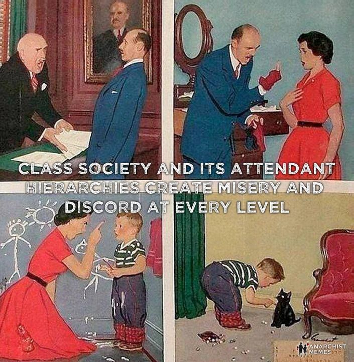 This is why capitalism, socialism, communism, dictatorship, statism, public education, non-peaceful parenting, and all other hierarchies will result in violence. Anarchy creates equality. Hierarchy creates ownership. Think about Anarchy this way.