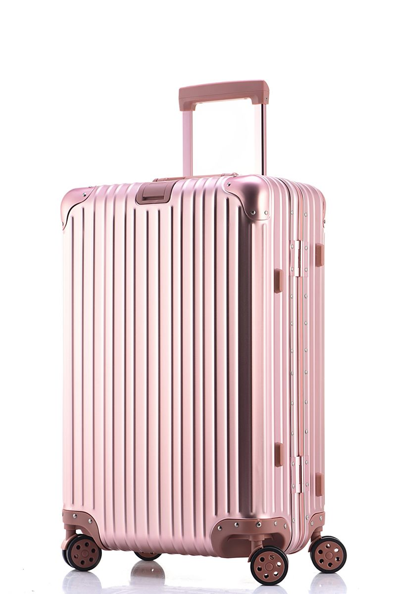20 24 26 29 30 inch pink metal luggage fashionable new type of ... e8dd189db12d0