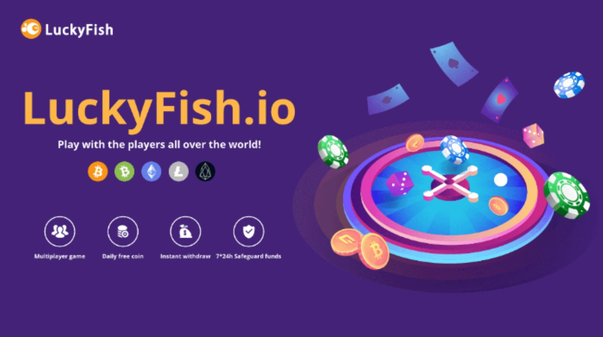 Try The New Provably Fair Bitcoin Casino Luckyfish Io Casino Reviews Casino Online Trivia