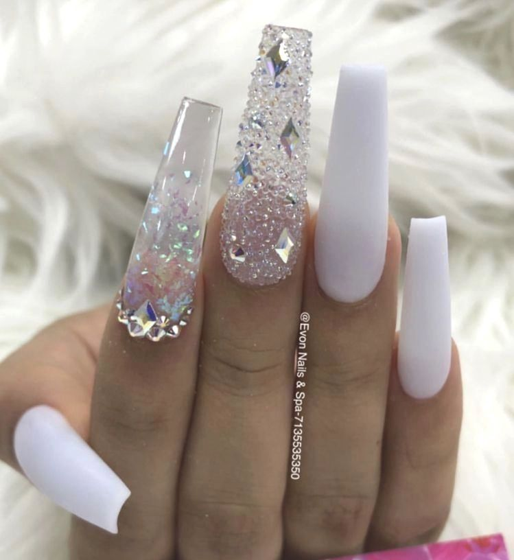 12 Pretty Acrylic Coffin Nails Design You Need To Try
