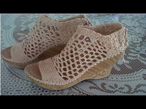 ZAPATOS TEJIDOS PUNTO DE RED - YouTube | alpargatas | Pinterest ...