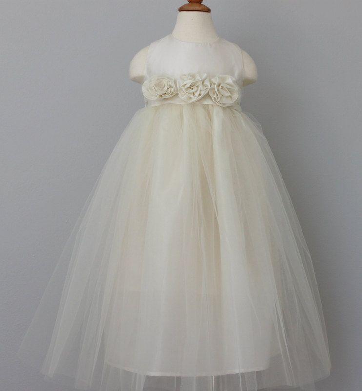 Ivory Flower Girl DressOff White Flower Girl by julianadesign, $99.00