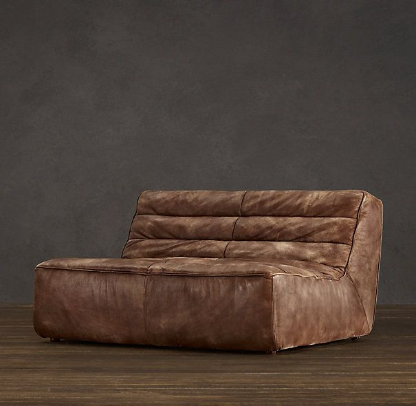 54 Chelsea Leather Sofa In Glove Black