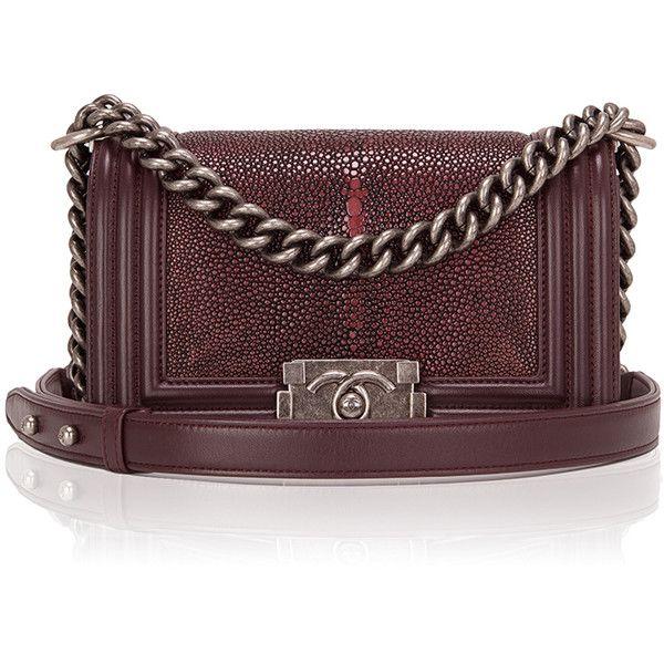 593d3c3808de Madison Avenue Couture Chanel Burgundy Stingray Small Boy Bag ...